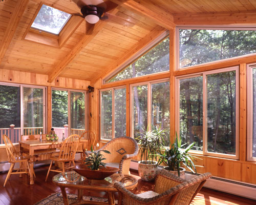 Sunroom additions lindal cedar homes for Sun room additions