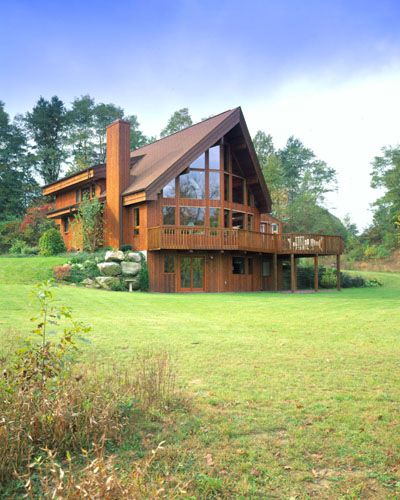 Classic lindal lindal cedar homes for Log cabin sunroom additions